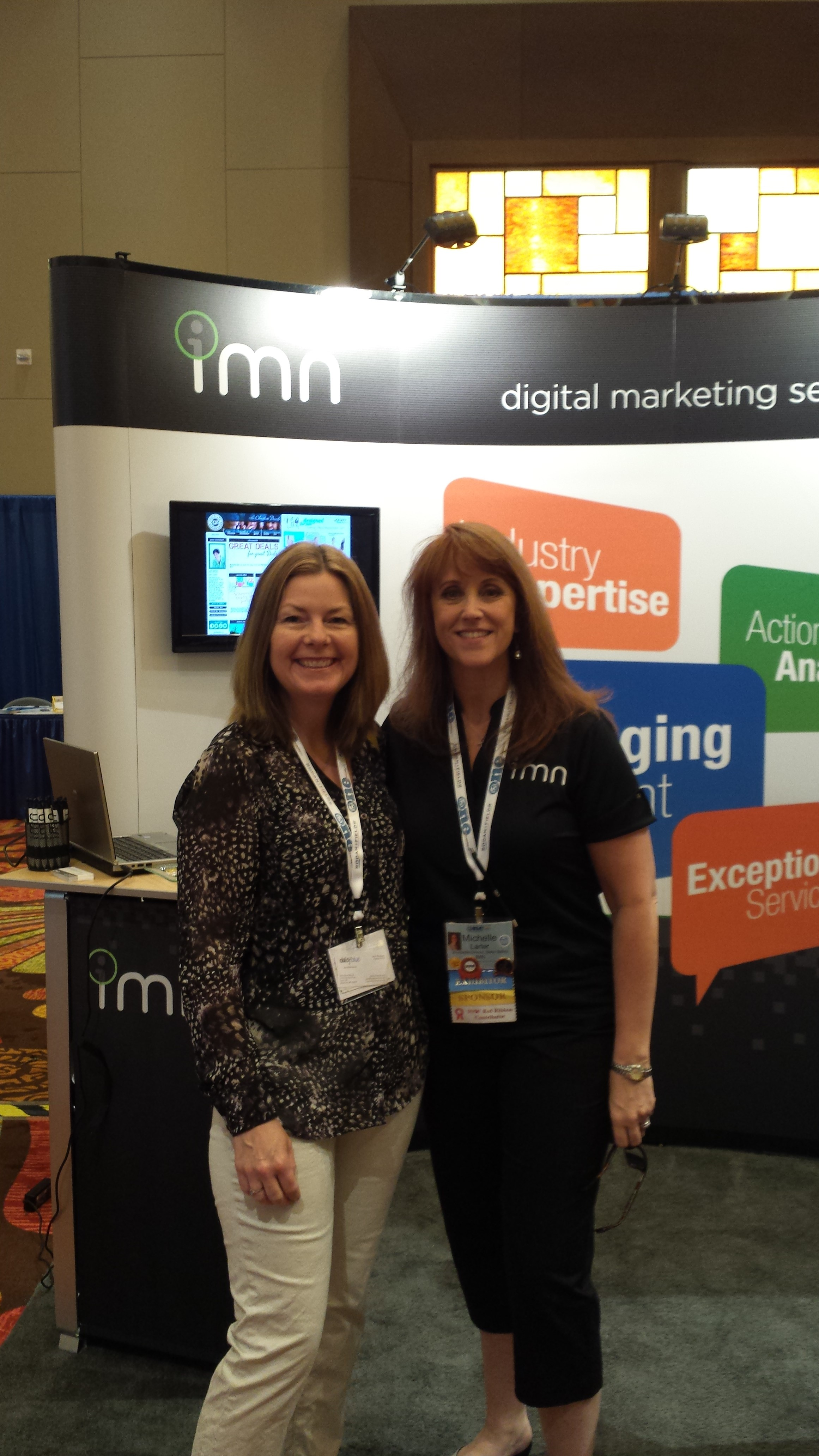 Connie visits the IMN booth