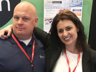 Erin K. at this year's Financial Brand Conference. With her is Manager of Banking Solutions Sales, Erik J.