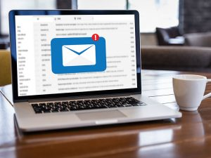 Email notification on a laptop